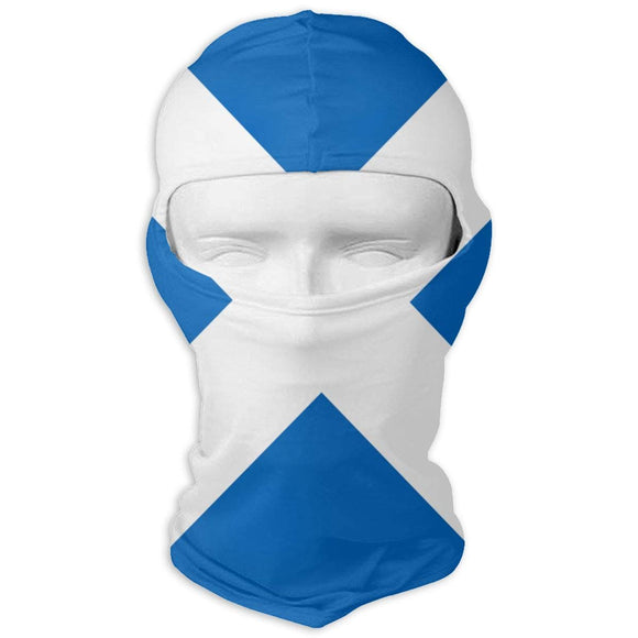 ZHOUSUN Scottish Flag Full Face Masks UV Balaclava Protection Ski Mask Motorcycle Neck Warmer Tactical Hood for Cycling Outdoor Sports Mountaineering Women Men Youth