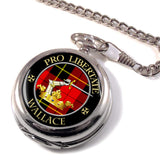 Wallace Scottish Clan Crest Full Hunter Pocket Watch