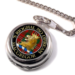 Macgregor Scottish Clan Crest Full Hunter Pocket Watch