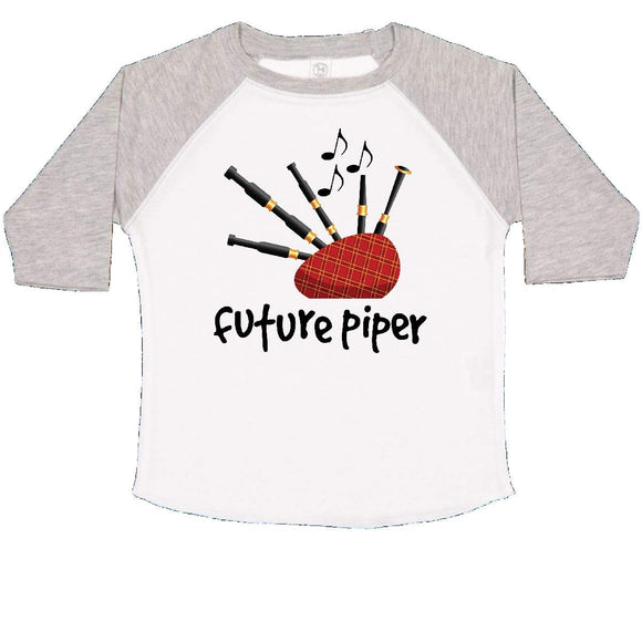 inktastic - Bagpiper Kids Future Piper Toddler T-Shirt 4T White and Heather ef36