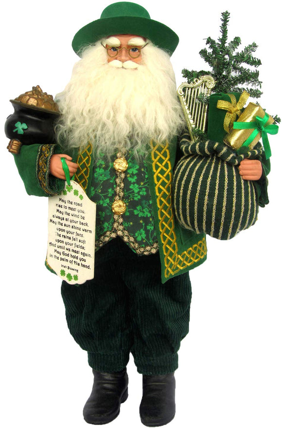 Santa's Workshop Irish Claus Figurine, 18