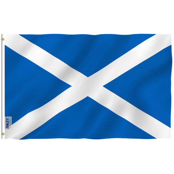 Anley Fly Breeze 3x5 Foot Scotland Flag - Vivid Color and UV Fade Resistant - Canvas Header and Double Stitched - Scottish National Flags Polyester with Brass Grommets 3 X 5 Ft