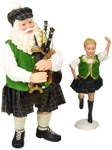 "Department 56 Celtic Holiday Santa Country Dance Figurine, 11"", Multicolor"
