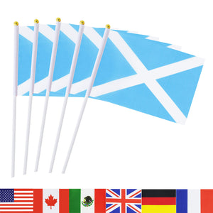 TSMD Scotland Stick Flag, 50 Pack Hand Held Small Scottish National Flags On Stick,International World Country Stick Flags Banners,Party Decorations for Olympics,Sports Clubs,Festival Events