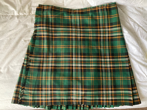 USED Kilt - Gold Brothers Heritage of Ireland Tartan Size 38
