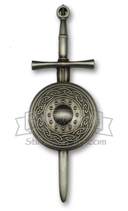 Deluxe Irish Sword and Shield Kilt Pin by Stillwater Kilts