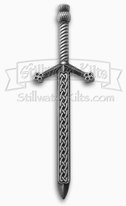 Deluxe Celtic Knot Sword Kilt Pin by Stillwater Kilts