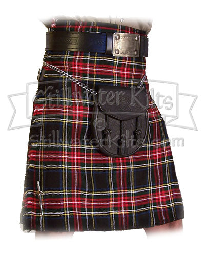 Stewart Black Tartan Standard Kilt from Stillwater Kilts