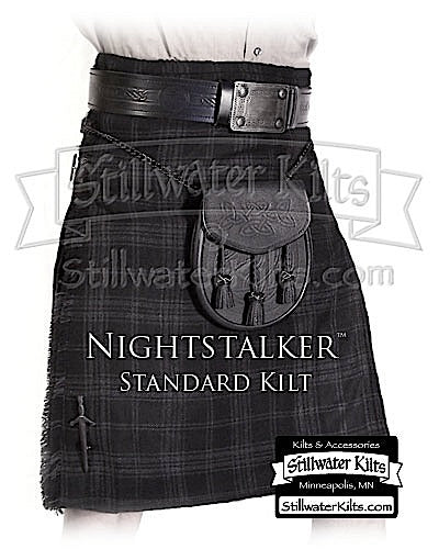 Nightstalker Tartan Standard Kilt from Stillwater Kilts
