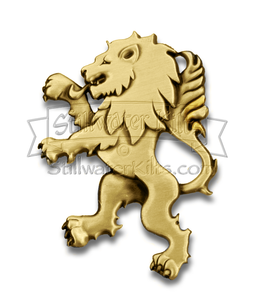 Deluxe Rampant Lion Kilt Pin - Antique Brass by Stillwater Kilts
