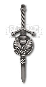 Deluxe Scottish Thistle Sword Kilt Pin by Stillwater Kilts