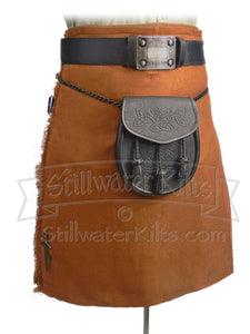 "Wool Heavyweight Kilt: Irish Saffron ""Shadow Tartan"" from Stillwater Kilts"