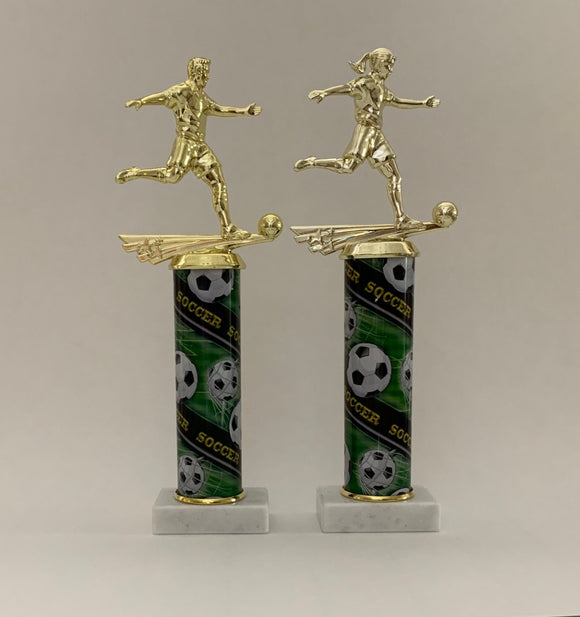 Green Soccer Trophy