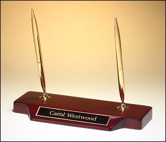 Rosewood Double Pen Holder