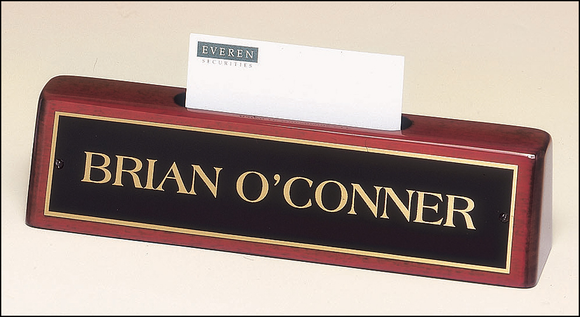 Desk Plate Business Card Holder