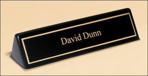 Black Piano Finish Nameplate