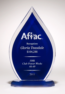 Blue Flame Acrylic Award
