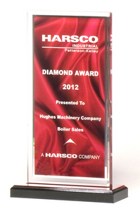 Red Draped Satin Acrylic Award