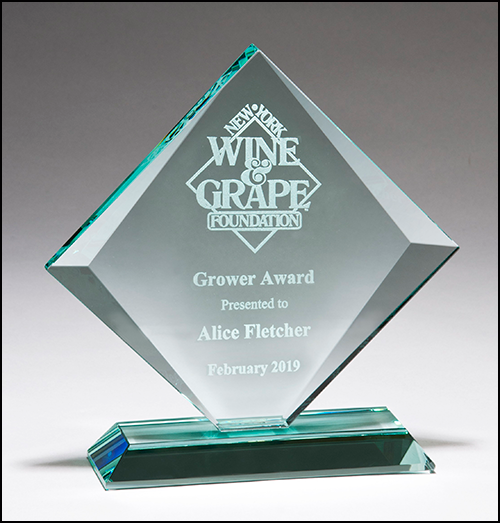 Diamond Series Jade Glass Award