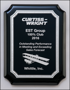 Silver & Black High Gloss Plaque