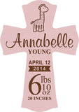 Personalized Pink Cross 11""