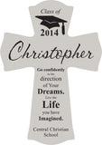 Personalized White Cross 11""
