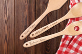 Personalized Wooden Utensil Set