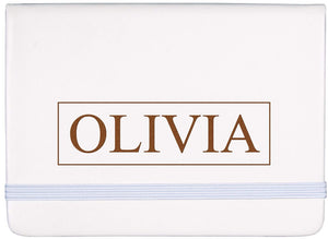 Personalized White Notebook