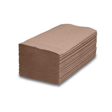 SINGLE FOLD BROWN TOWEL