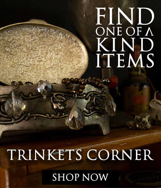 Find one of a kind items, shop trinkets