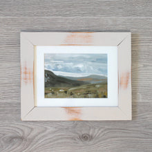 "Load image into Gallery viewer, ""Quiet Hills"" - framed original oil painting on paper"