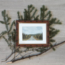 "Load image into Gallery viewer, ""On the Road"" - framed original oil painting on paper"