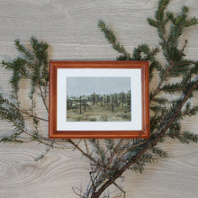 "Load image into Gallery viewer, ""Reindeer Forest"" - framed original oil painting on paper"