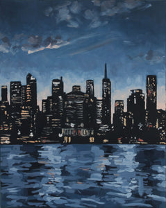 Original New York landscape oil painting on canvas