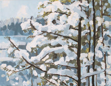 Load image into Gallery viewer, Original acrylic winter landscape painting on canvas for sale