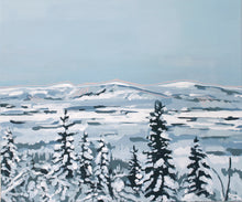 Load image into Gallery viewer, Original winter landscape painting for sale lapland