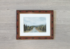 """On the Road"" - framed original oil painting on paper"