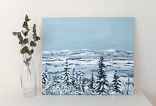 Load image into Gallery viewer, Lappi maisema original winter acrylic landscape painting