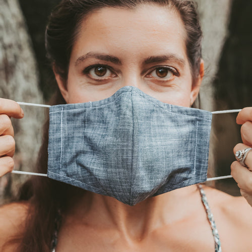 Chambray Face Mask, Denim Face Mask, Reusable Face Mask,