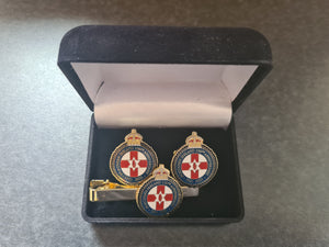 Northern Ireland 100th Anniversary Cuff Links & Tie Pin Set