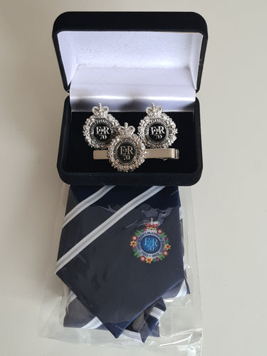 The Queen's Platinum Jubilee Tie, Cuff Links & Tie Pin Set