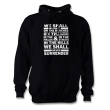 Load image into Gallery viewer, Winston Churchill Never Surrender Hoodie