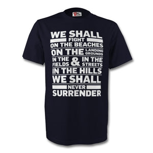Winston Churchill Never Surrender T Shirt