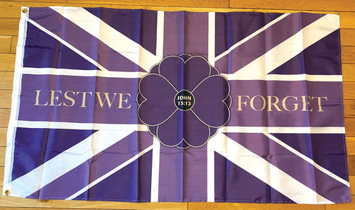 Purple Empire Poppy Flag