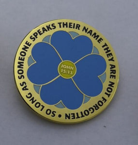 Empire Forget Me Not Badge