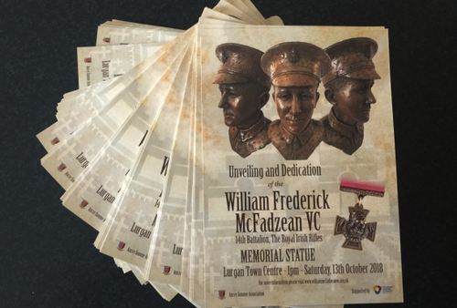William McFadzean VC Unveiling & Dedication Programme