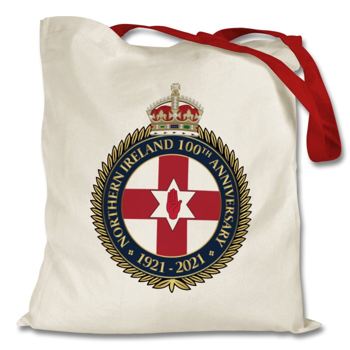 Northern Ireland 100th Anniversary Cotton Tote Bag