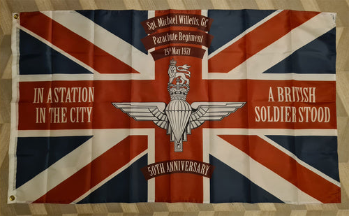 Sergeant Michael Willetts GC 50th Anniversary Flag