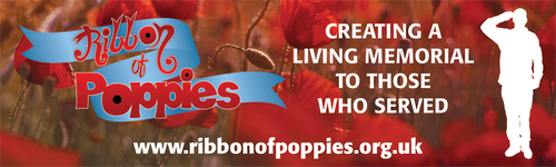 Ribbon of Poppies PVC Banner