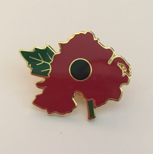 Northern Ireland Map Poppy Badge